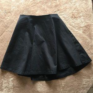 Kate Spade Saturday black circle skirt